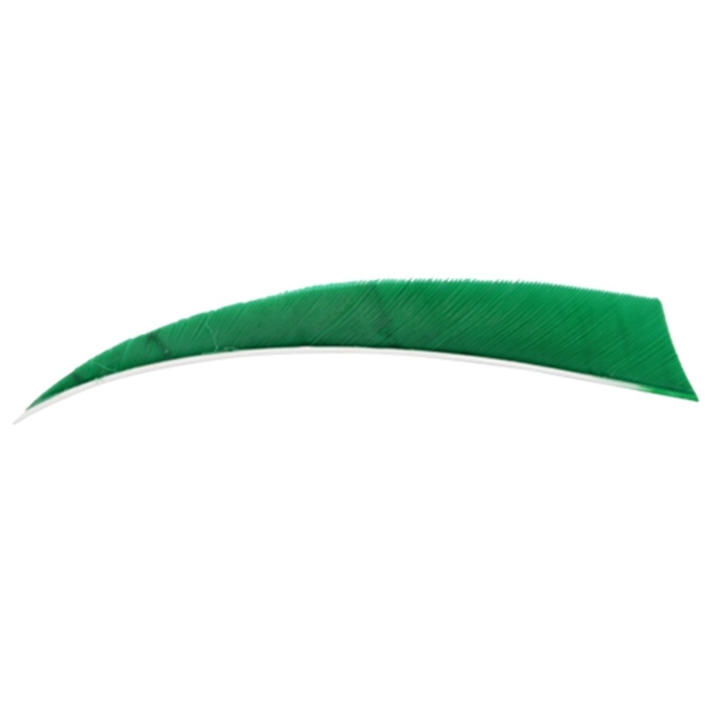 "3"" Solid Shield Fletchings. Green."