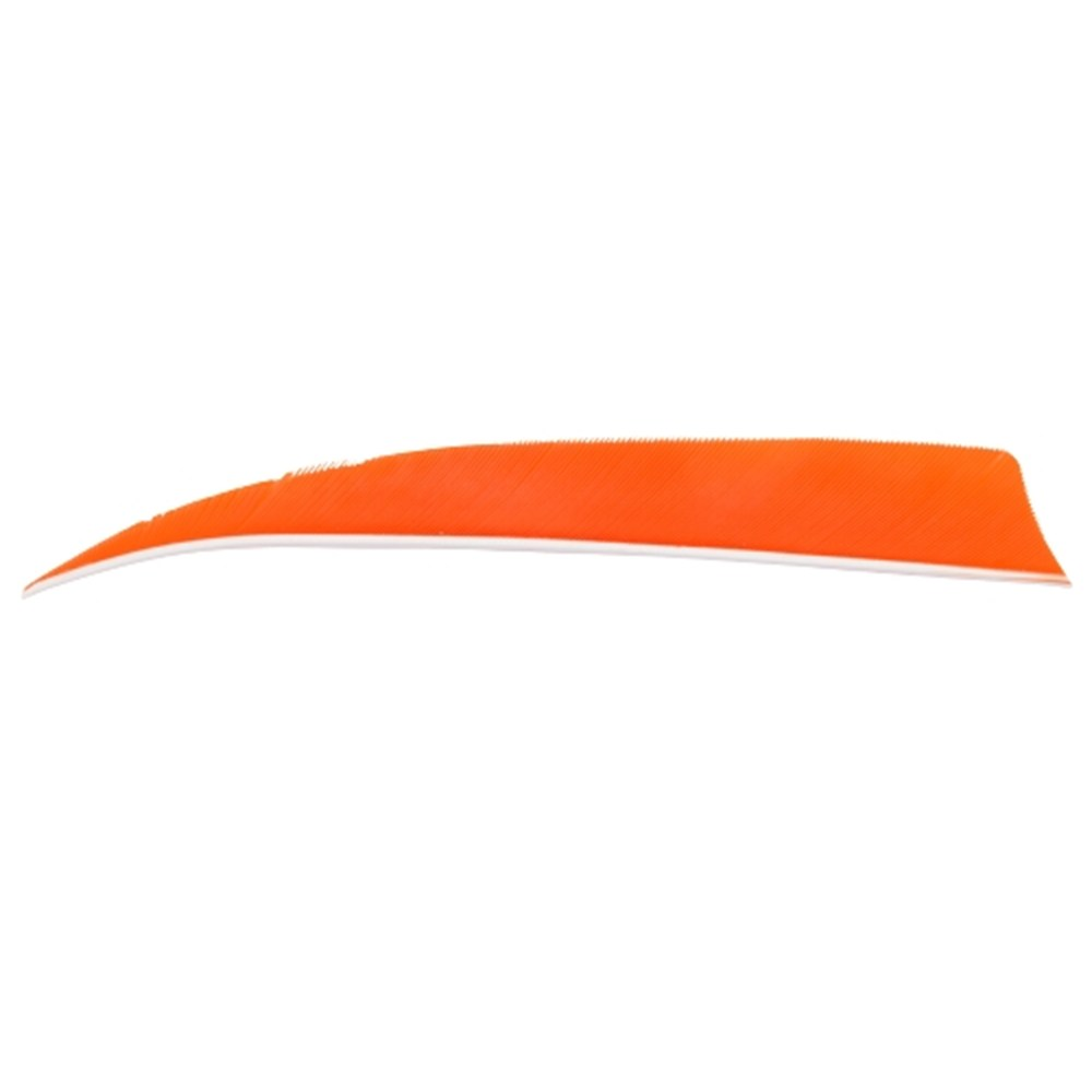 "5"" Solid Shield Fletchings. Orange."