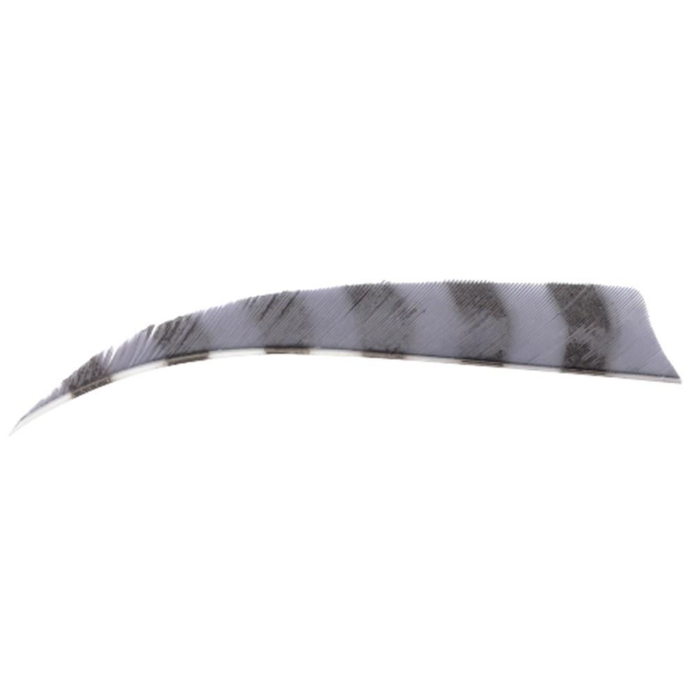 "4"" Barred Shield Fletchings. Grey."