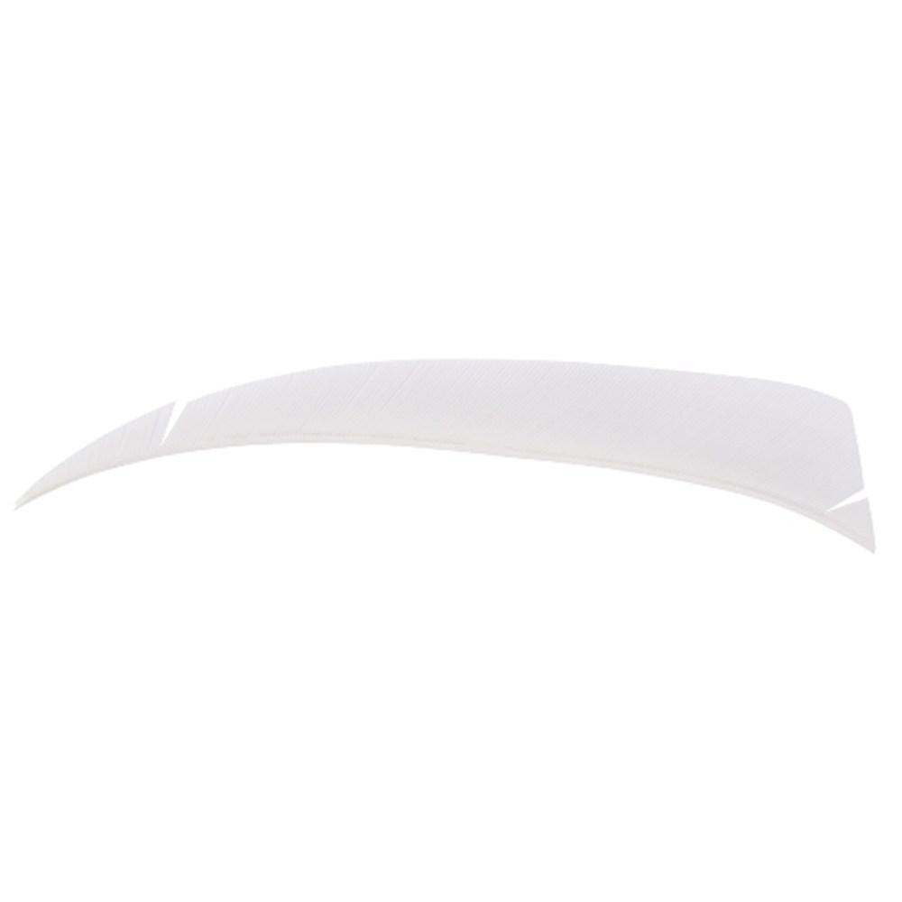 "4"" Solid Shield Fletchings. White."