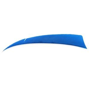 "4"" Solid Shield Fletchings. Blue."