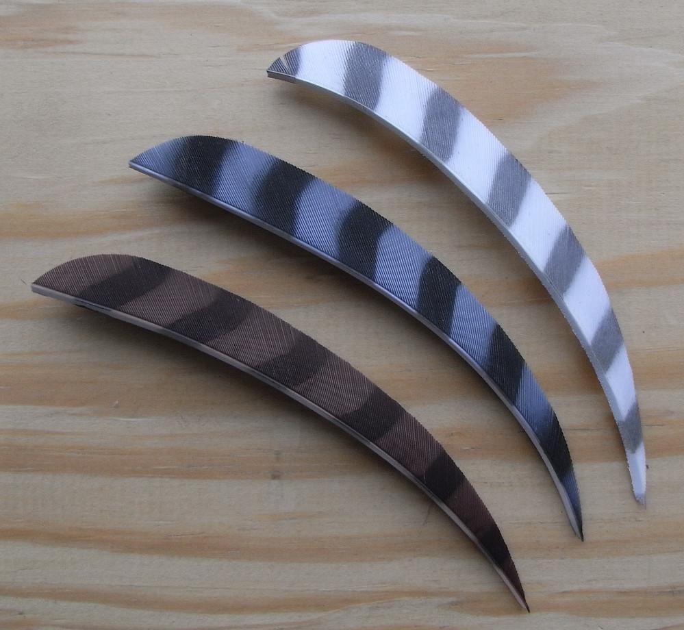 5 inch Barred Parabolic Fletchings.