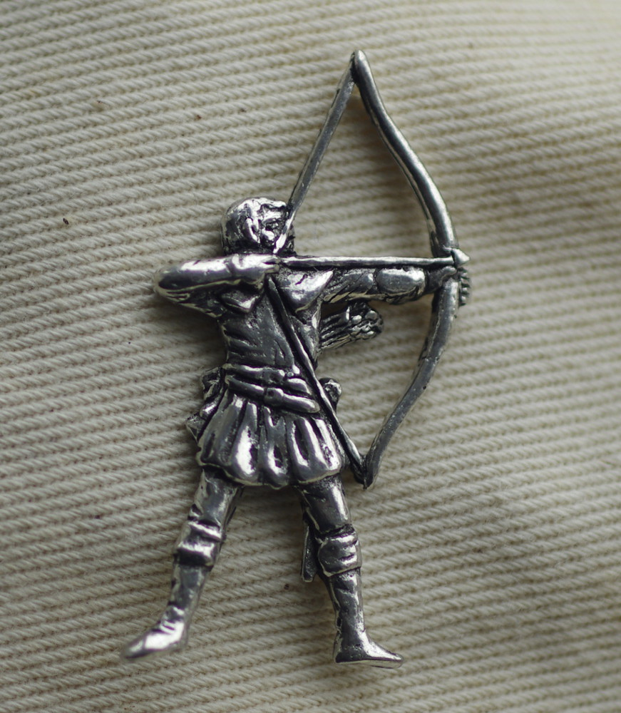 Sherwood Archer pewter badge.