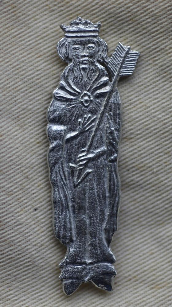 Edmund the Martyr pewter badge