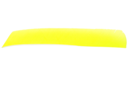 Full Length Solid Fletching. Flo Yellow.
