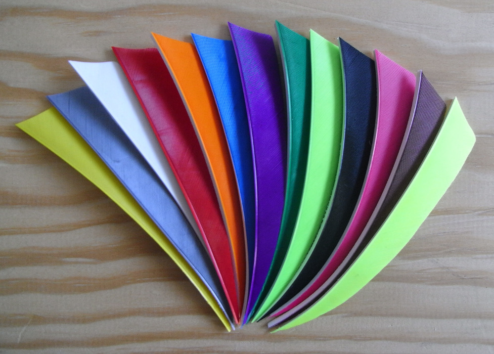 5 Inch Shield Fletchings solid colours.