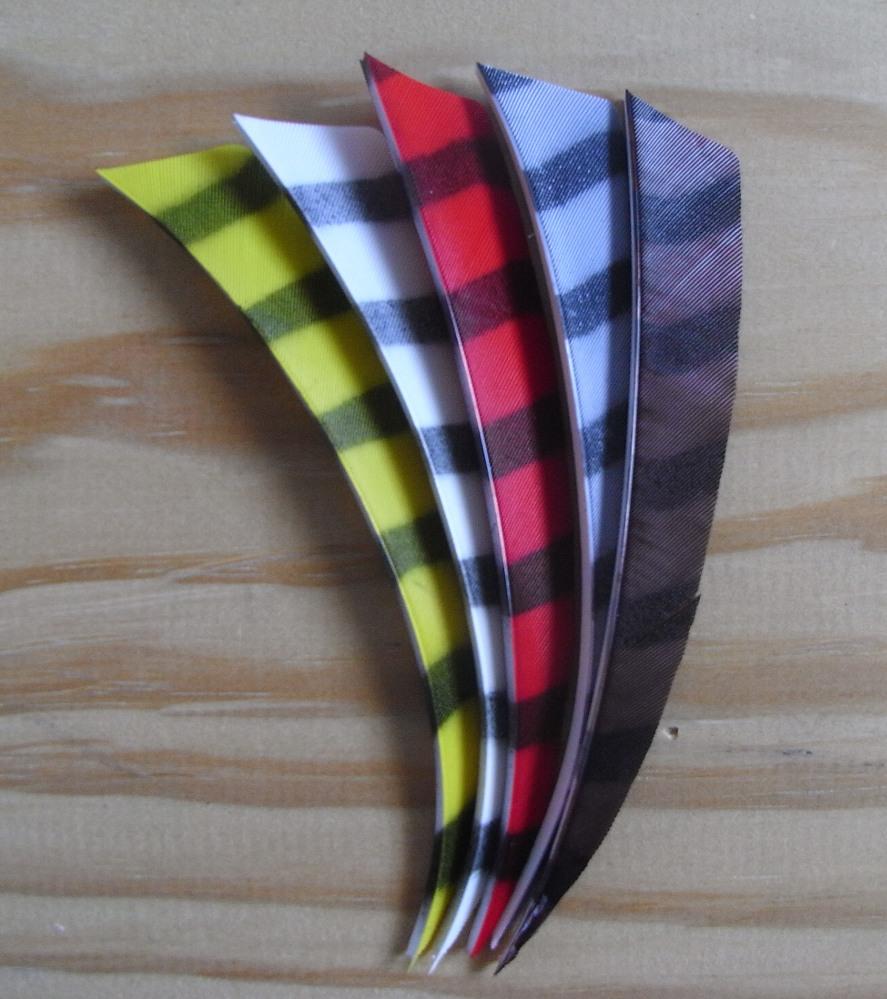 5 inch Barred Shield Fletchings.