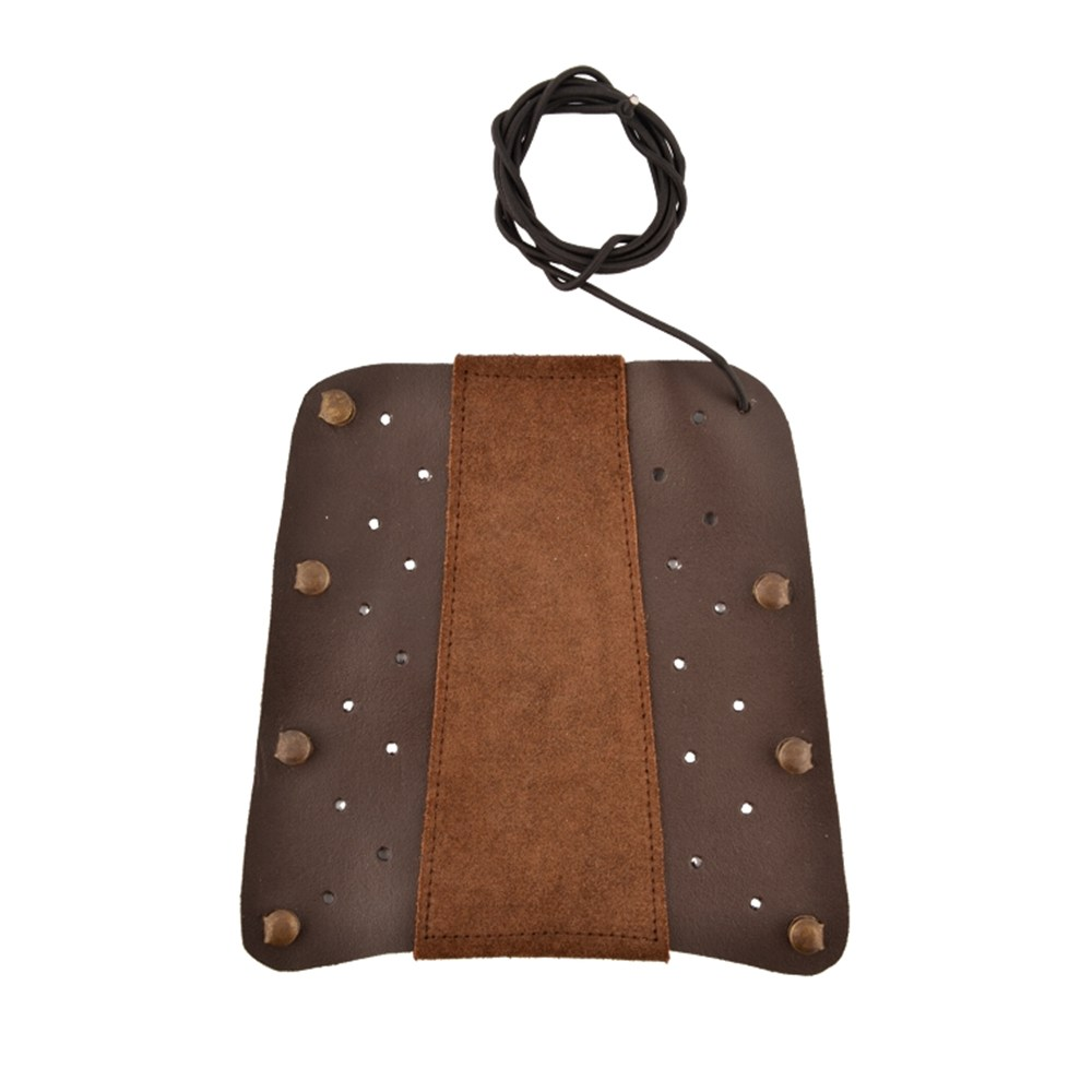 Guardsman bracer is made of dark brown leather.