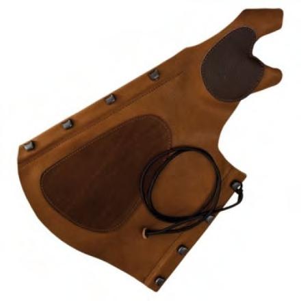 Hoyuk Hunter bracer, suede leather all in one archery arm guard.