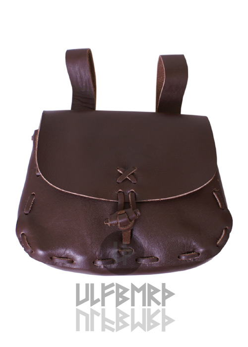 Rustic Pouch dark brown.