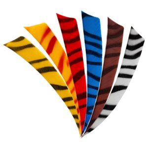5 Inch Zebra Shield Fletchings.
