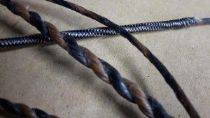 Longbow string close up
