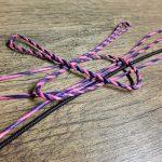 Flemish Twist String - Purple and Tan