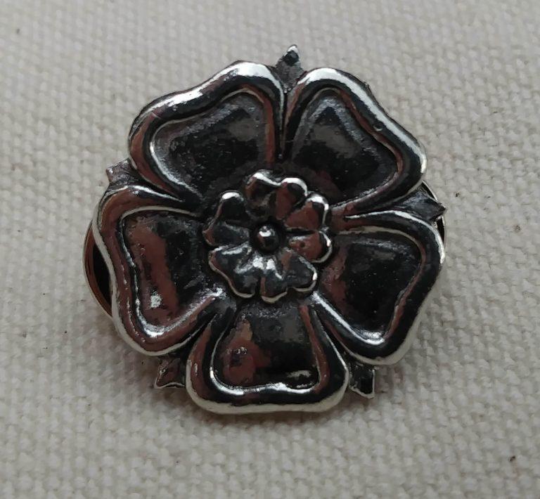 English Rose - Pewter Badge