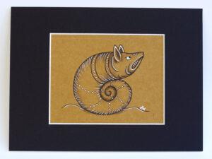 marginalia - hog snail