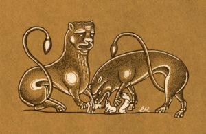 Marginalia - Lions