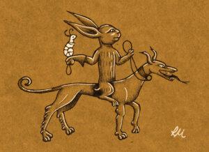 marginalia - rabbit hunting